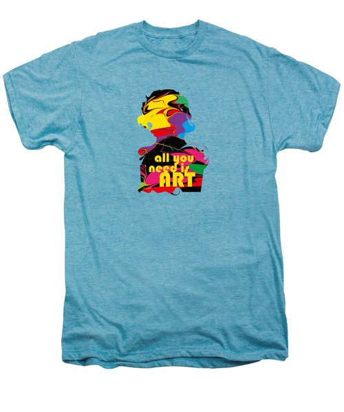 Yes Abstract Art M51,   Art Shirt Men's Premium T-Shirt