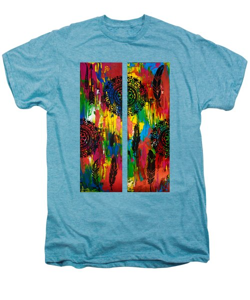 Abstract Boho Design - Diptych By Nikki And Kaye Menner Men's Premium T-Shirt