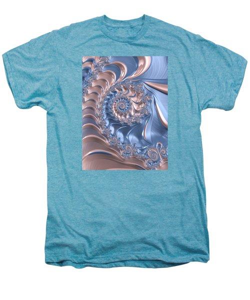 Abstract Fractal Art Rose Quartz And Serenity  Men's Premium T-Shirt