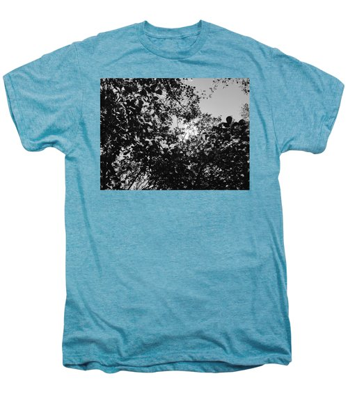 Abstract Leaves Sun Sky Men's Premium T-Shirt
