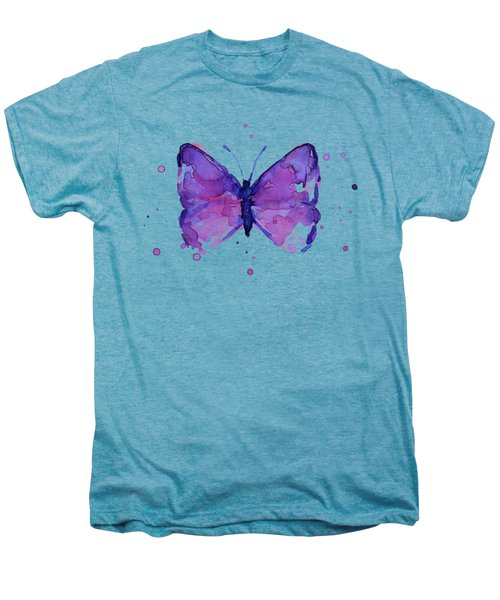 Abstract Purple Butterfly Watercolor Men's Premium T-Shirt