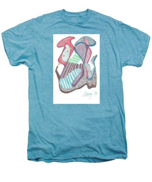 Men's Premium T-Shirt featuring the drawing Abstract by Rod Ismay