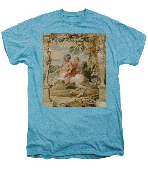 Achilles Educated By The Centaur Chiron Men's Premium T-Shirt