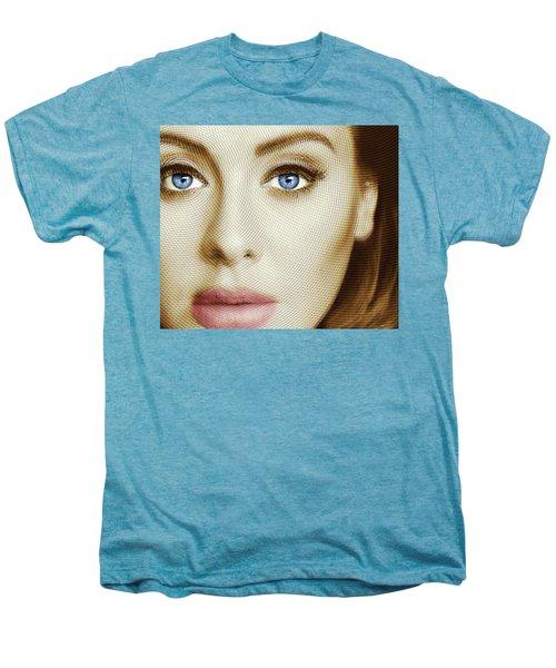 Adele Painting Circle Pattern 1 Men's Premium T-Shirt by Tony Rubino