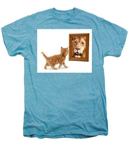 Admiring The Lion Within Men's Premium T-Shirt