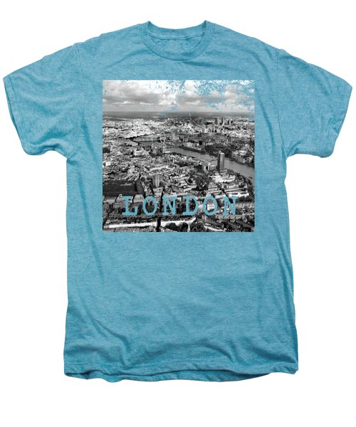 Aerial View Of London Men's Premium T-Shirt by Mark Rogan