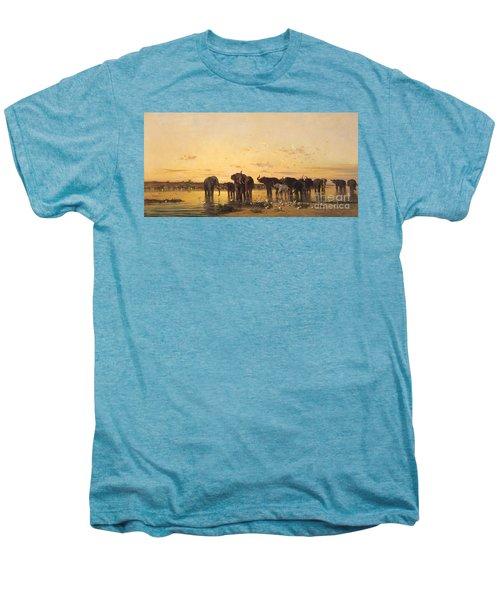 African Elephants Men's Premium T-Shirt