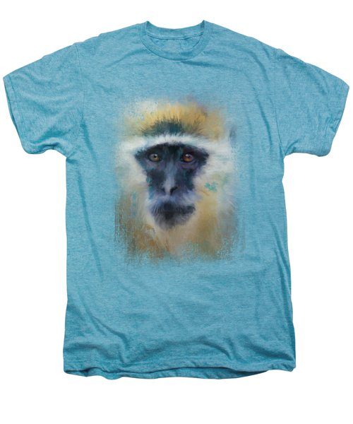 African Grivet Monkey Men's Premium T-Shirt by Jai Johnson
