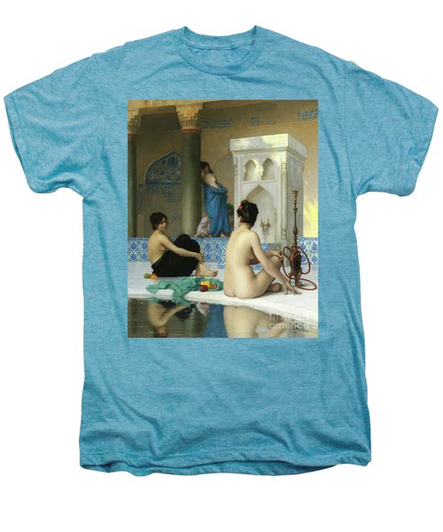 After The Bath, Jean Leon Gerome Men's Premium T-Shirt