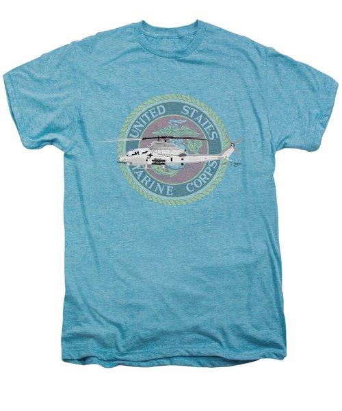 Ah-1z Viper Usmc Men's Premium T-Shirt by Arthur Eggers