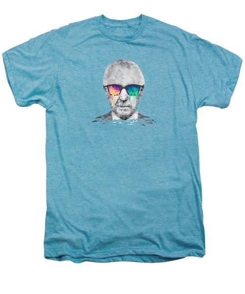 Albert Hofmann - Psychedelic Polygon Crystalised Portrait Men's Premium T-Shirt