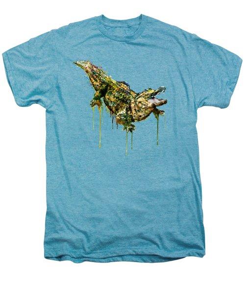 Alligator Watercolor Painting Men's Premium T-Shirt