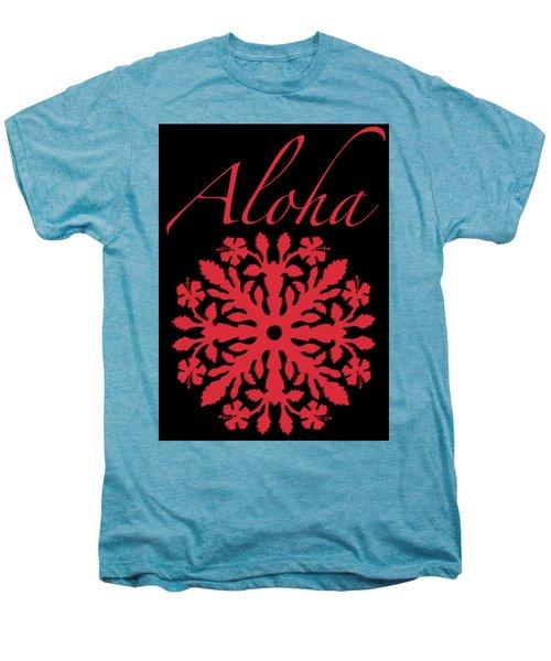 Aloha Red Hibiscus Quilt T-shirt Men's Premium T-Shirt