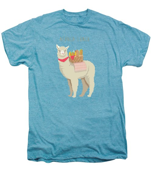 Alpaca Lunch Men's Premium T-Shirt by Little Bunny Sunshine