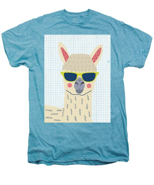 Alpaca Men's Premium T-Shirt by Nicole Wilson