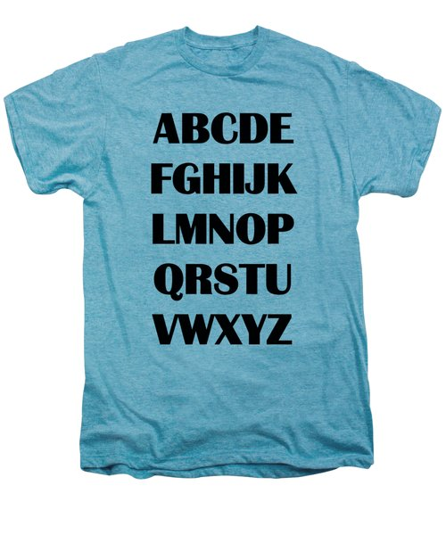 Alphabet T-shirt Men's Premium T-Shirt