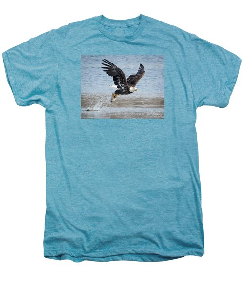 American Bald Eagle Taking Off Men's Premium T-Shirt by Ricky L Jones