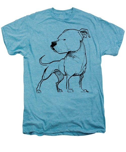 American Bulldog Gesture Sketch Men's Premium T-Shirt