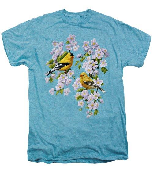 American Goldfinch Spring Men's Premium T-Shirt