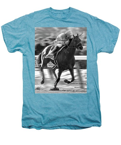 American Pharoah And Victor Espinoza Win The 2015 Belmont Stakes Men's Premium T-Shirt