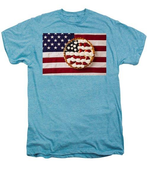 American Pie On American Flag  Men's Premium T-Shirt