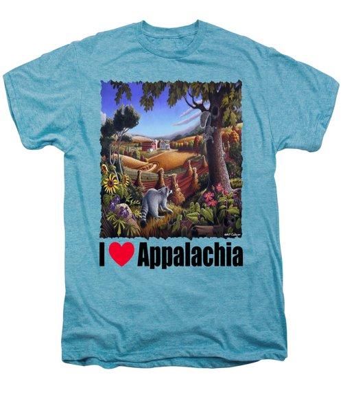 Amish Country - Coon Gap Holler Country Farm Landscape Men's Premium T-Shirt by Walt Curlee