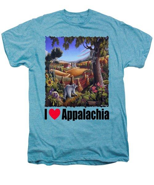 Amish Country - Coon Gap Holler Country Farm Landscape Men's Premium T-Shirt