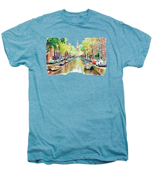 Amsterdam Canal 2 Men's Premium T-Shirt by Marian Voicu
