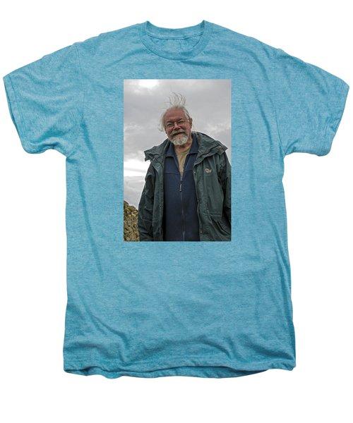 Men's Premium T-Shirt featuring the photograph An Englishman In Castlerigg, Uk by Dubi Roman