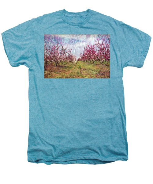 An Orchard In Blossom In The Golan Heights Men's Premium T-Shirt