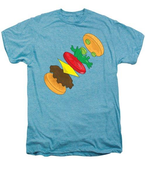 Anatomy Of Cheeseburger Men's Premium T-Shirt by Ben Shurts