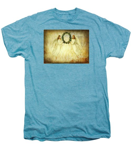 Angels Christmas Card Or Print Men's Premium T-Shirt by Bellesouth Studio