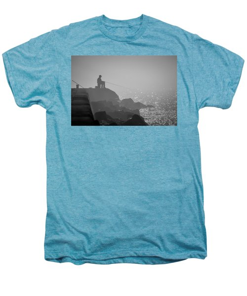Angling In A Fog  Men's Premium T-Shirt
