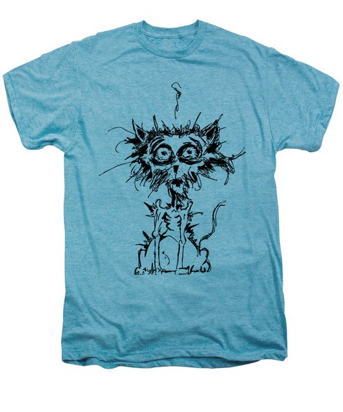 Angst Cat Men's Premium T-Shirt by Nicholas Ely