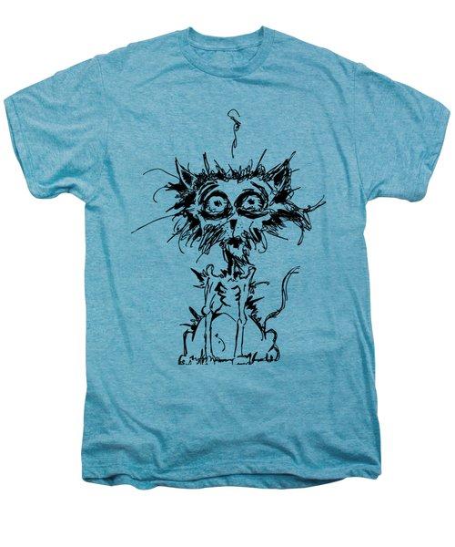 Angst Cat Men's Premium T-Shirt by Nicholas Ely