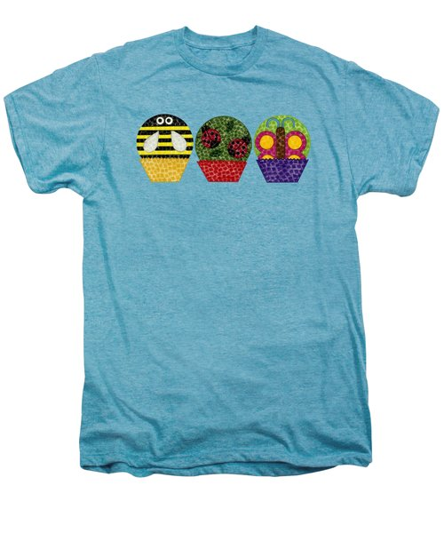 Animal Cupcakes 1 Men's Premium T-Shirt by Emily Kim