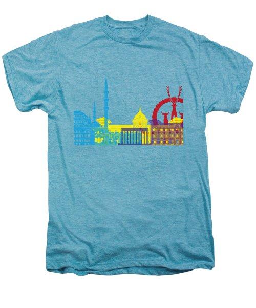 Ankara Skyline Pop Men's Premium T-Shirt by Pablo Romero