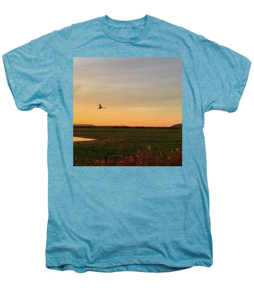 Another Iphone Shot Of The Swan Flying Men's Premium T-Shirt