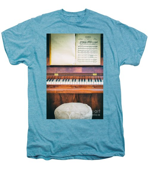 Men's Premium T-Shirt featuring the photograph Antique Piano And Music Sheet by Silvia Ganora