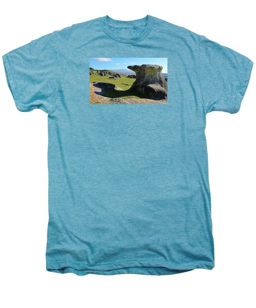 Anvil Rock Men's Premium T-Shirt by Nareeta Martin