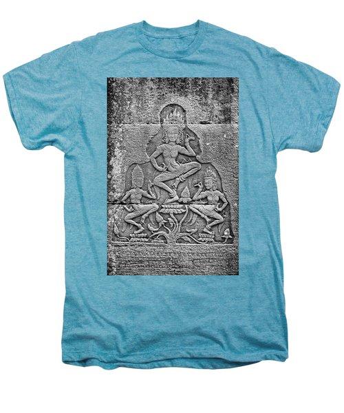 Men's Premium T-Shirt featuring the photograph Apsaras 3, Angkor, 2014 by Hitendra SINKAR
