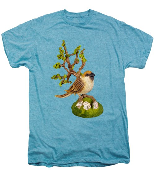Arborescent Sparrow Men's Premium T-Shirt by Przemyslaw Stanuch