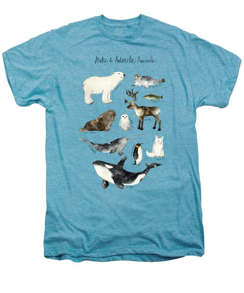 Arctic And Antarctic Animals Men's Premium T-Shirt by Amy Hamilton