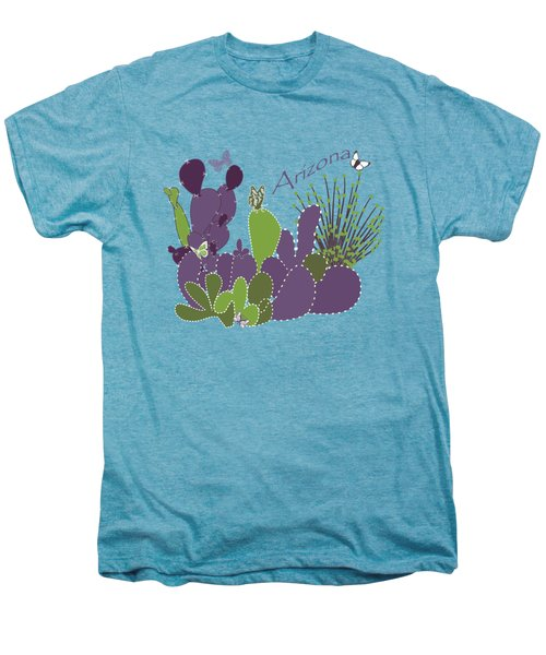 Arizona Cacti Men's Premium T-Shirt by Methune Hively