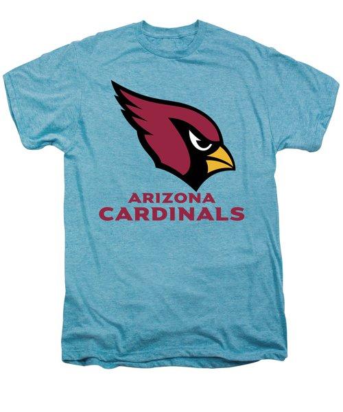 Arizona Cardinals On An Abraded Steel Texture Men's Premium T-Shirt