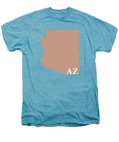 Arizona State Map With Text Of Constitution Men's Premium T-Shirt