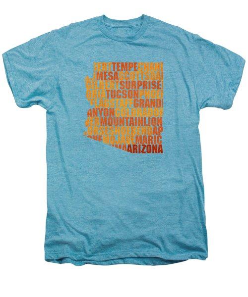 Arizona State Outline Word Map Men's Premium T-Shirt