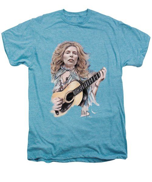 Joni Mitchell Men's Premium T-Shirt by Melanie D