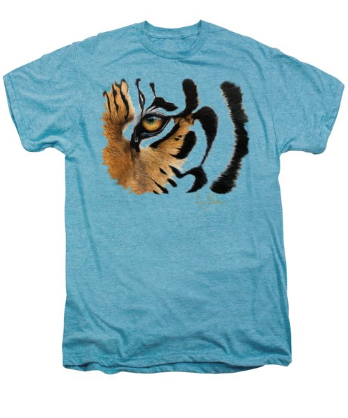 Tiger Eye Men's Premium T-Shirt by Lucie Bilodeau