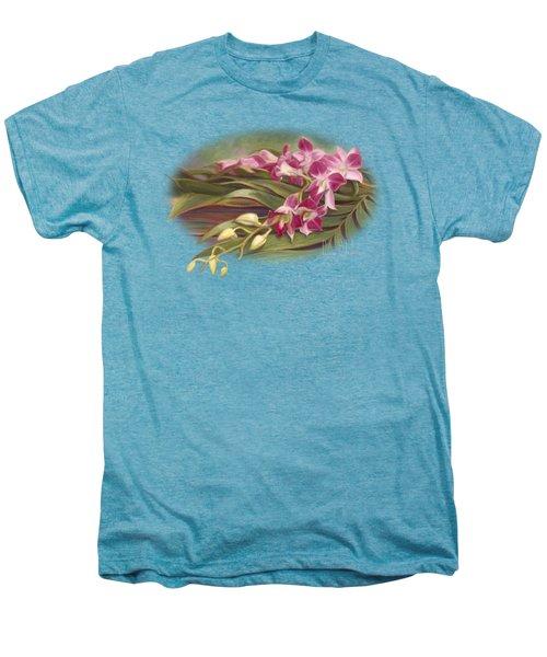 Dendrobium Orchids Men's Premium T-Shirt by Lucie Bilodeau
